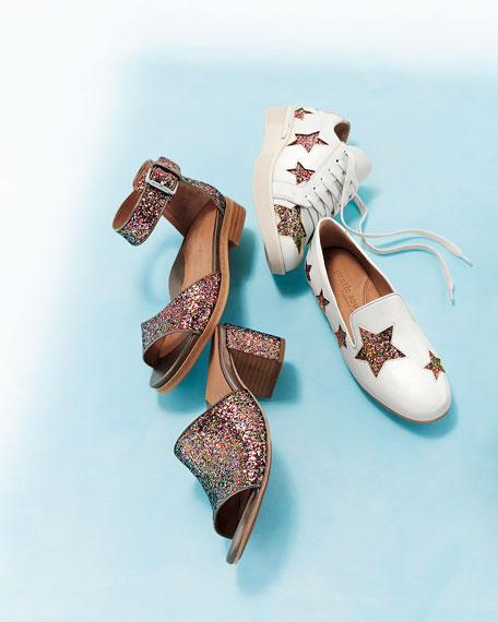 Haddie Glitter Star Sneaker