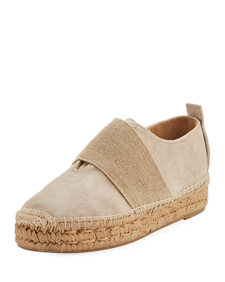 Rag & Bone Nina Suede Slip-On Espadrille, Smoke