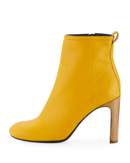 Ellis Italian Leather Boot, Citrus
