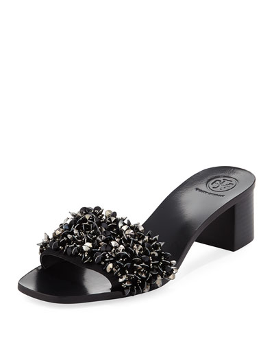 Logan Embellished Slide Sandal