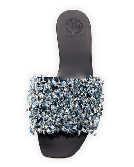 Logan Embellished Flat Slide Sandal