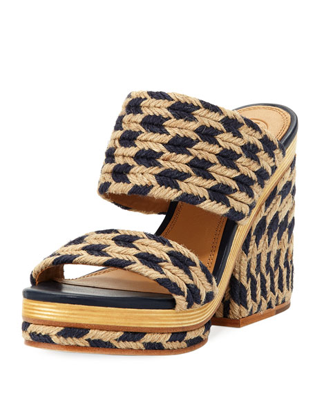 Lola Platform Jute Slide Sandal