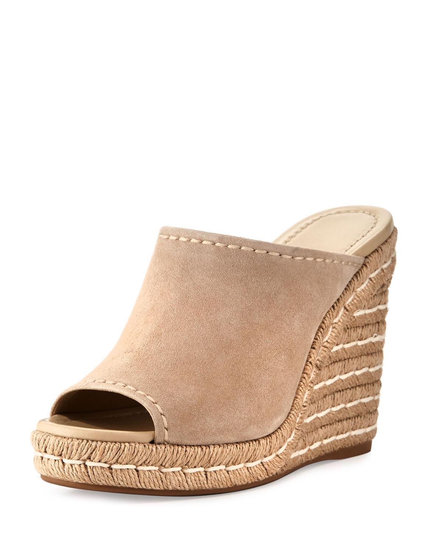 ff0c59522f5 Prada Suede Wedge Espadrille Mule Sandal