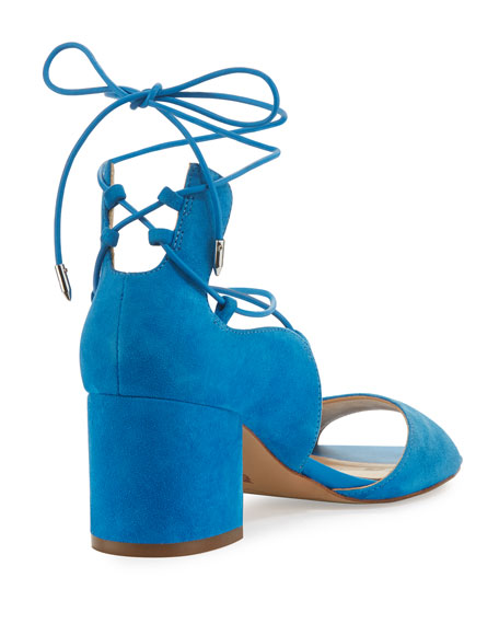 Serene Suede Lace-Up Sandal