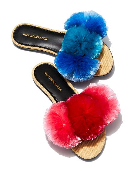 Bora Bora Pompom Slipper Sandal
