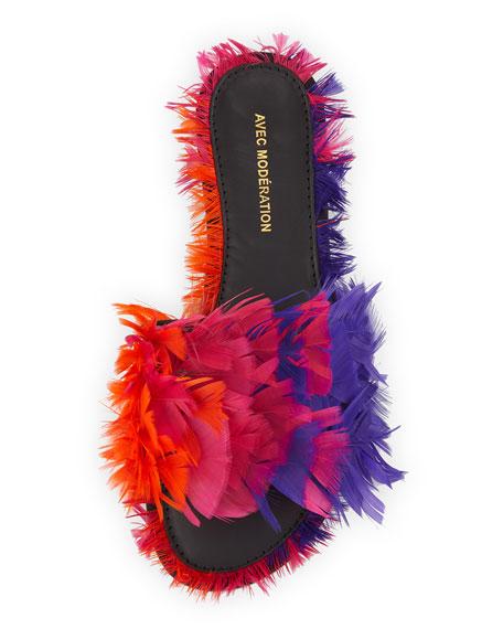 Bora Bora Feather Slipper Sandal