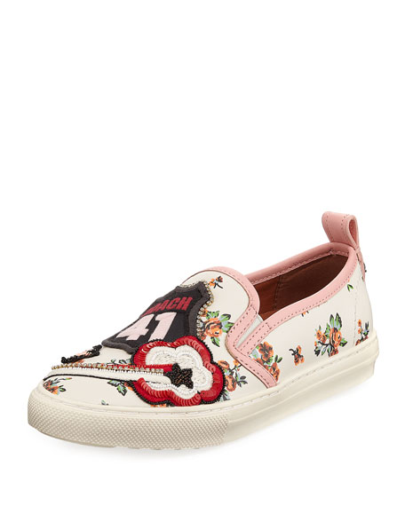 Coach Route 41 Floral Embellished Sneakers