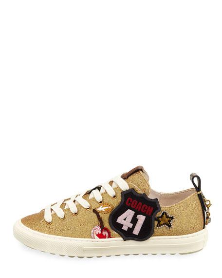 Route 41 Glitter Platform Sneakers