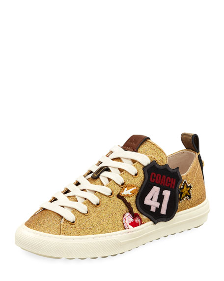 Coach Route 41 Glitter Platform Sneakers