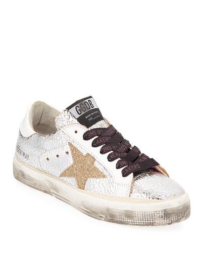 May Star Metallic Low-Top Sneaker