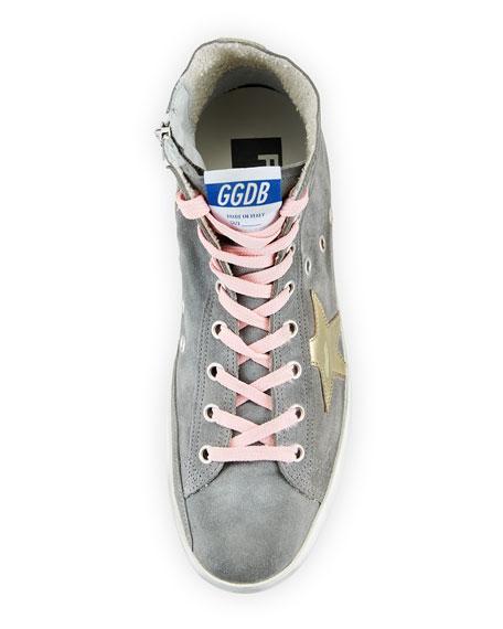 Francy Suede High-Top Sneakers