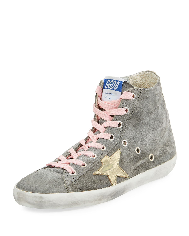 4f5f33bc6 Golden Goose Francy Suede High-Top Sneakers   Neiman Marcus