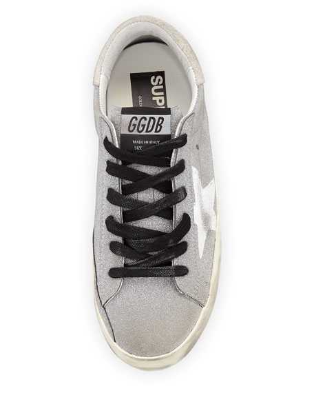 Superstar Flag Glitter Fabric Low-Top Sneaker