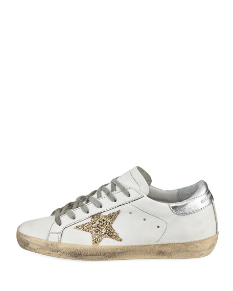 Superstar Glittered Star Low-Top Sneaker