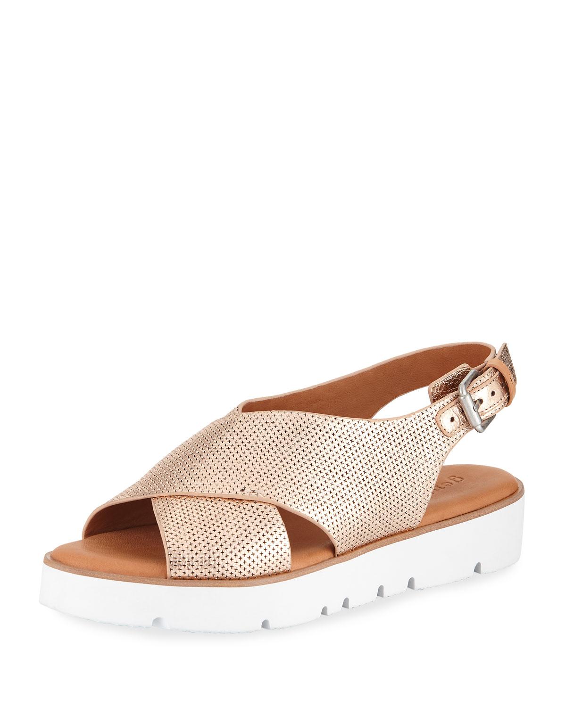 d67b01a07377 Gentle Souls Kiki Perforated Comfort Sandal
