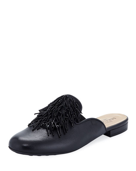 Sesto Meucci Kala Embellished Leather Slide Mule