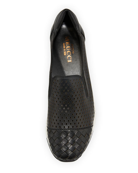Caria Woven Perforated Napa Sneakers
