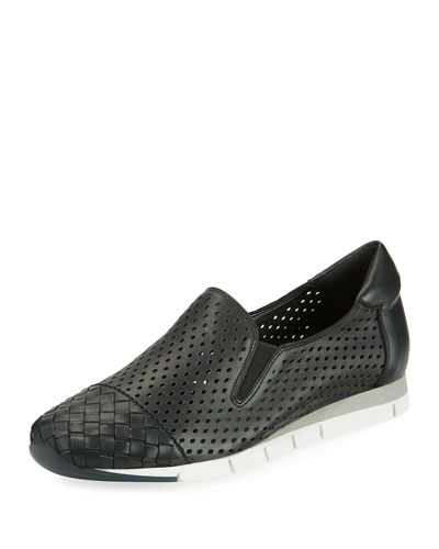 Caria Woven Perforated Napa Sneaker