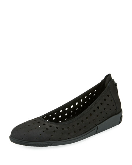 Sesto Meucci Dova Perforated Slip-On Flat, Black