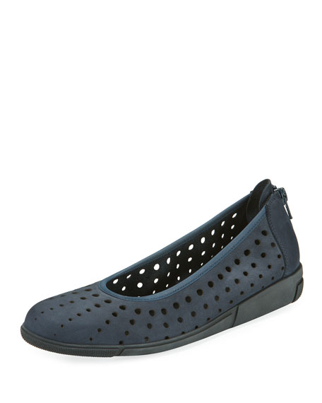 Sesto Meucci Dova Perforated Slip-On Flat, Navy