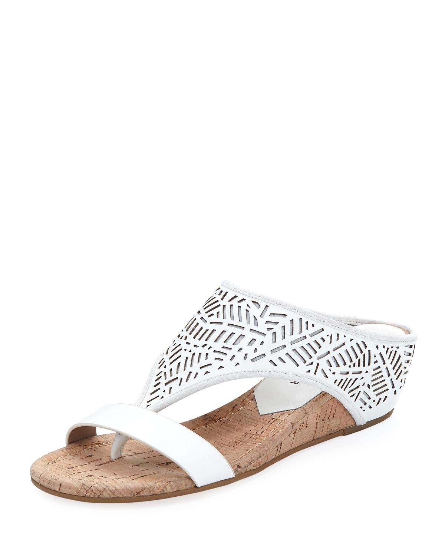 19e194eebd4 Donald J Pliner Darin Laser-Cut Demi-Wedge Sandals