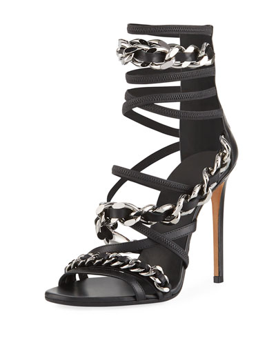 Diva Chain-Trim Strappy Sandal
