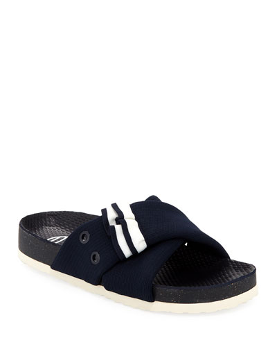 Side Car Ruffle Slide Sandal
