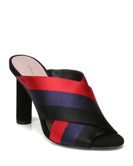 Emilyn Striped Slide Sandal