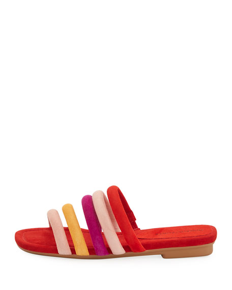 Kip Flat Banded Suede Slide Sandal