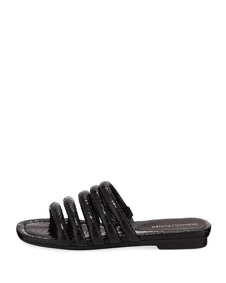 Kip Banded Python-Embossed Slide Sandal