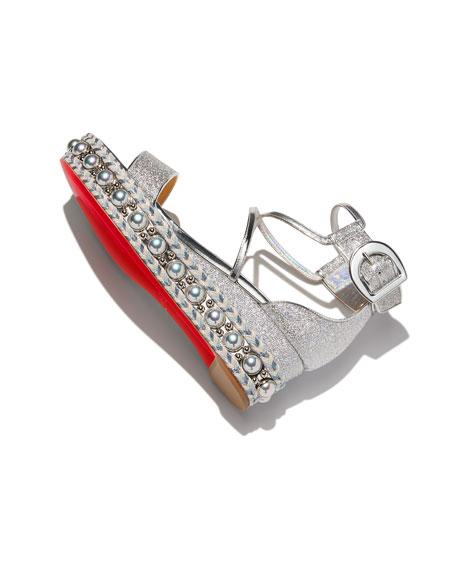 Chocazeppa Metallic Platform Red Sole Sandal
