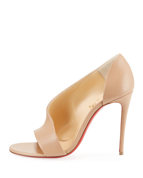 Phoebe Asymmetric Leather Red Sole Pumps