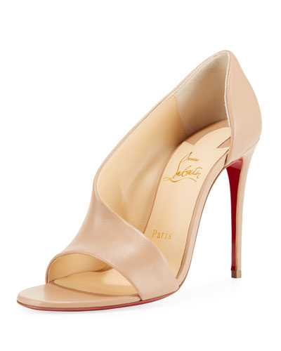 Phoebe Asymmetric Leather Red Sole Pump