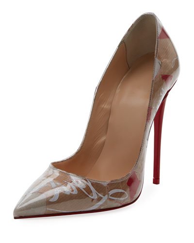 So Kate 120mm Collage Red Sole Pump