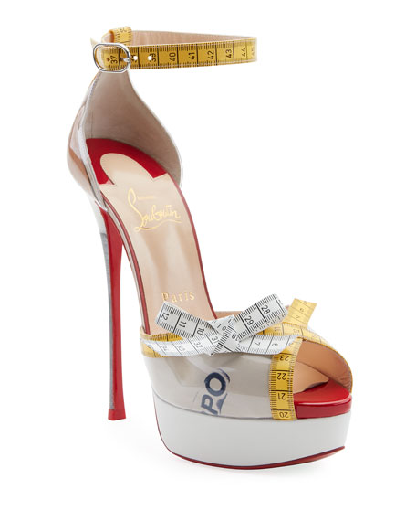 Christian Louboutin Metricathy Measuring Tape Red Sole Pump