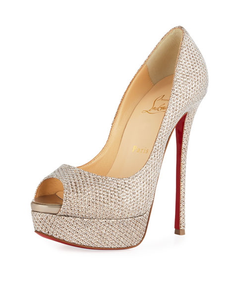 Christian Louboutin Fetish Peep 150mm Platform Red Sole