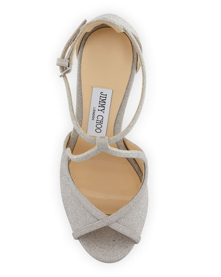 Fawne Glitter Leather 120mm Sandal