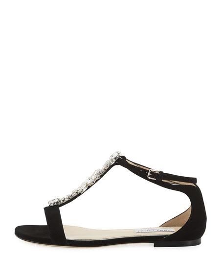 Averie Suede Embellished Sandal