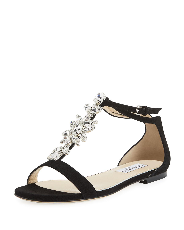 cfbe3f04f Jimmy Choo Averie Suede Embellished Sandal