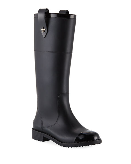 Edith Rubber Knee-High Rain Boot