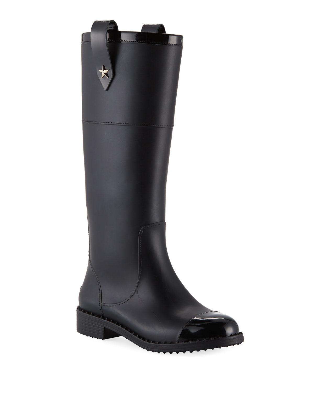 0127b137b0f Jimmy Choo Edith Rubber Knee-High Rain Boot