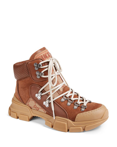 57927e76f9a Gucci Flashtrek Shearling-Lined Hiker Boots from Neiman Marcus - Styhunt