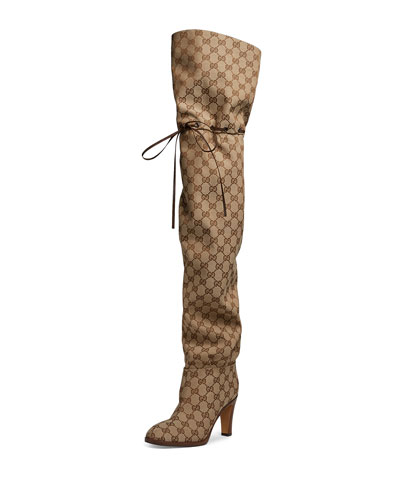 Lisa Original GG Canvas Over-the-Knee Boot