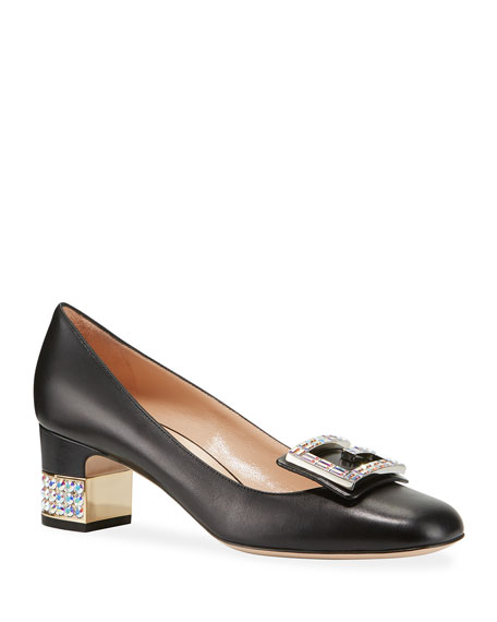 Leather 55mm Pumps