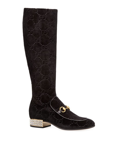 GG Velvet Over-The-Knee Boot