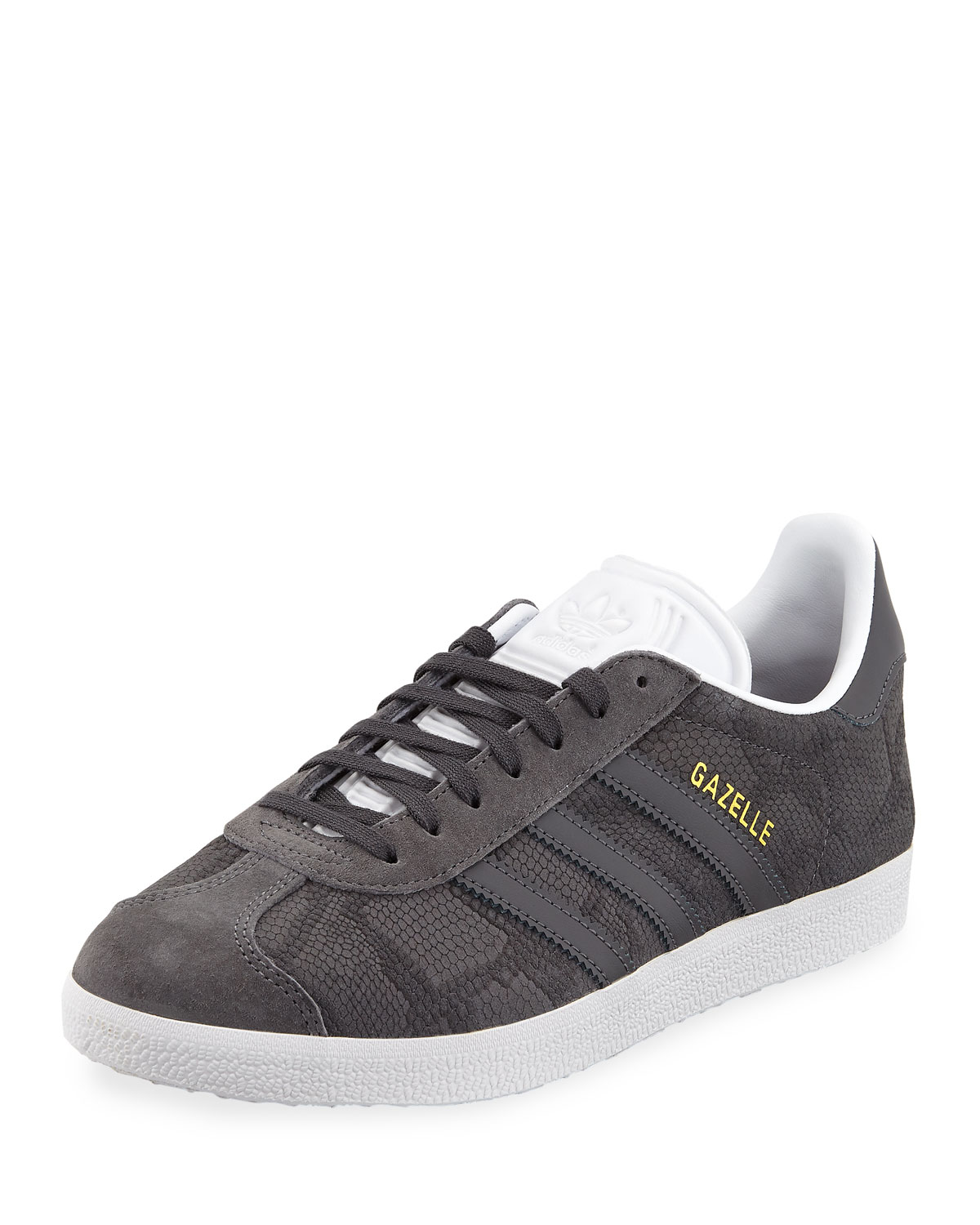 3404a4109d73 Adidas Gazelle Leather Lace-Up Sneakers