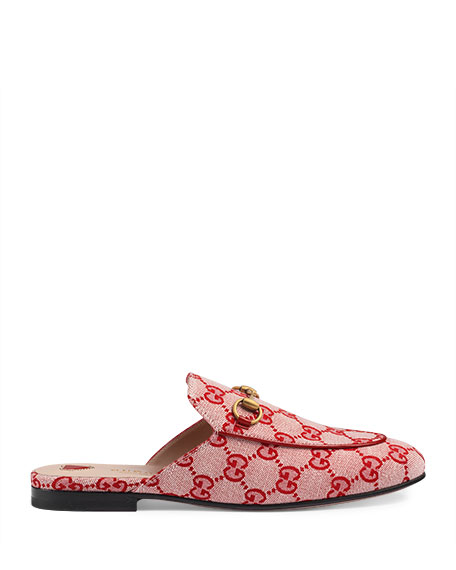 Princetown GG Canvas Flat Mule