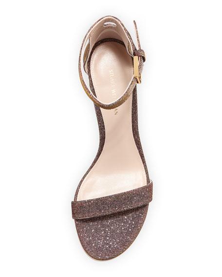 75LESSNUDIST Metallic Fabric Sandal
