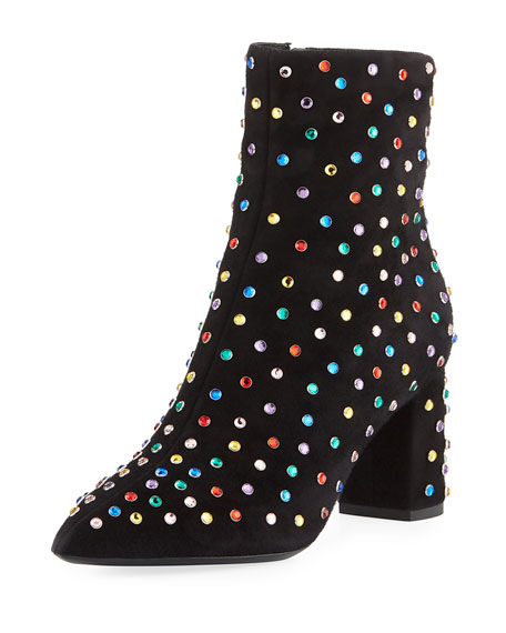 Saint Laurent Betty Multicolor Stud Booties