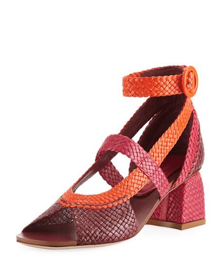 Caprice Colorblock Woven Sandal